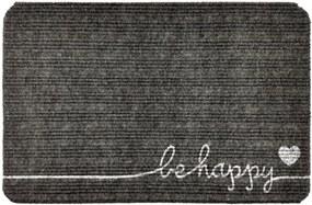 Capacho Carpet Be Happy Cinza Único Love Decor