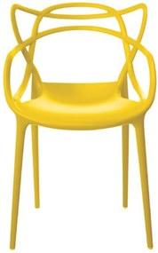 Cadeira Decorativa Sala e Cozinha Feliti (PP) Amarela - Gran Belo
