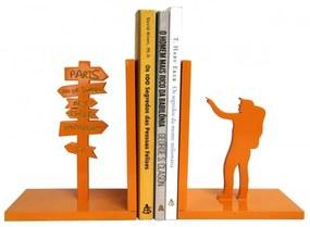 Aparador de Livros - Mochileiro - Laranja