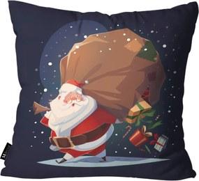 Capa para Almofada de Natal 45x45cm Marinho