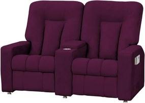 Poltrona do Papai Jetta 02 Lugares Reclinável Roxo - Matrix - Púrpura