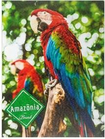 Tela Impressa Arara Vermelha Amazônia Fullway - 40x30 cm