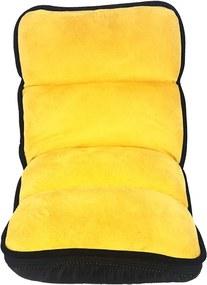 Cadeira Reclinável Infantil de Chão Amarelo e Preto