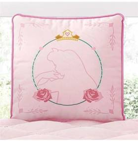 Almofada Rosa Quadrada Princesa Aurora 30cm Grão d
