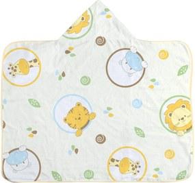 Toalha De Banho Para Bebê Incomfral Amarelo Com Capuz E Forro Fralda