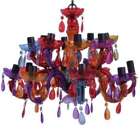 Lustre Deluxe Multicolorido Grande em Acrílico - 57x35 cm