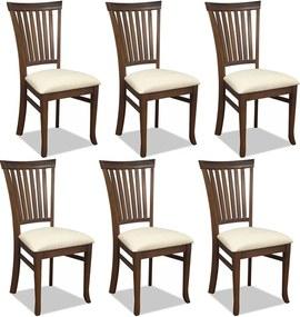 Kit 06 Cadeiras Para Sala de Jantar Cozinha Vitte Canela Linho Rústico Bege - Gran Belo