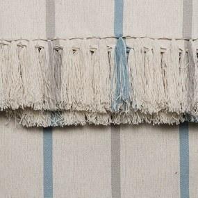 Manta para Sofá Romantic Listras de 1,40 x 2,00 m Azul Romantico