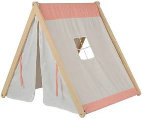 Cabana de 59cm a 121cm com tenda Laranja/Marfim/Natural - Casatema