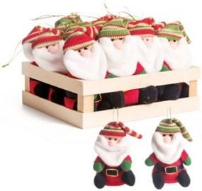 Mini Caixa Com 12 Papai Noel Para Pendurar Árvore De Natal