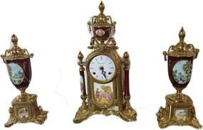 Relógio Imperial Limoges Em Bronze Com Castiçais