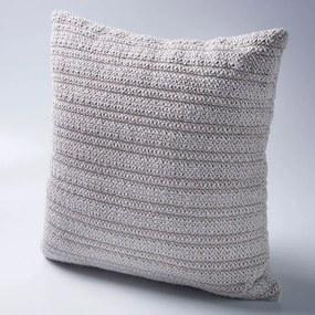 Almofada Quadrada Dona Estilo Crochê em Tramado de Algodão - Enchimento 100% Fibra Siliconizada