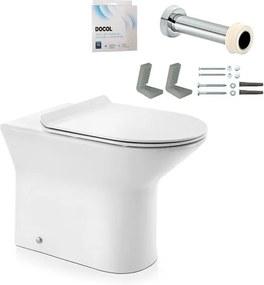 Kit Bacia Convencional com Assento Lift Branca + Conjunto de Fixação, Tubo de Ligação e Anel de Vedação - 968966 - Docol - Docol