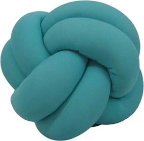 Almofada Nó Escandinavo - Azul Turquesa
