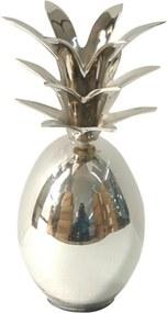 abacaxi decorativa COROA metal 21,5cm Ilunato BEI0128