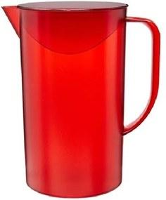 Jarra Casual com Tampa 2 Litros Vermelha