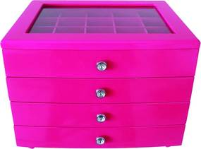 Porta Joia pink    de mdf 27 cm IIunato  85026110