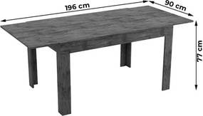 Mesa Kafi Extensível 136/196cm 100% MDF Nobre