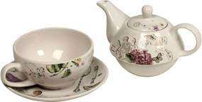 Jogo Teapot Cup Saucer Soft