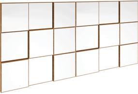 Painel decorativo quadriculado espelhado JJ Freijó Dalla Costa Bege