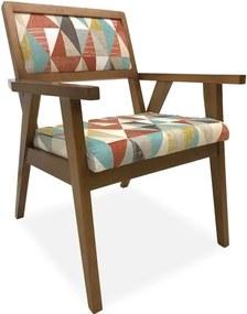 Cadeira Decorativa, imbuia Mel, Cancun 74, Azaléia