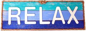 Placa Decorativa Relax Blue