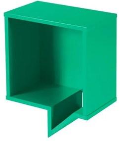 Prateleira Cartoon Quadrada Laca Verde Anis - 27237 Sun House