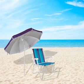 Conjunto Cadeira de Praia e Guarda-Sol Cores Sortidas Vacation