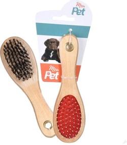 Escova Dupla Face Para Cachorros e Gatos 18cm - Meu Pet