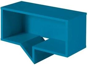 Prateleira Cartoon Retangular Laca Azul - 27247 Sun House