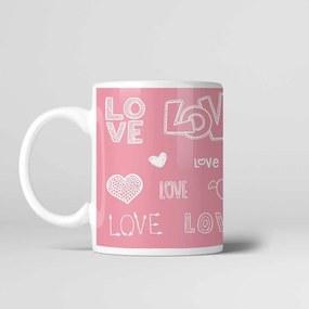 Caneca Cerâmica 330ml Love - Kokken