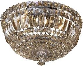 Plafon Sobrepor Cristal Cognac Bes 17X37cm