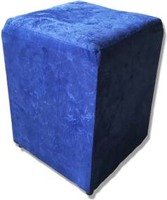 Puff Cubo Quadrado Box Decorativo Suede (34x34x45cm) - Azul