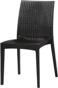 Cadeira Ibiza Polipropileno Cor Preto - 29679 Sun House