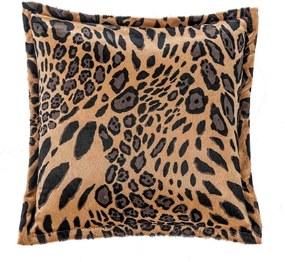 Capa De Almofada DOURADOS ENXOVAIS Quadrada Safari Leopardo Marrom