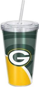 Copo Com Canudo Luxo NFL Green Bay Packers