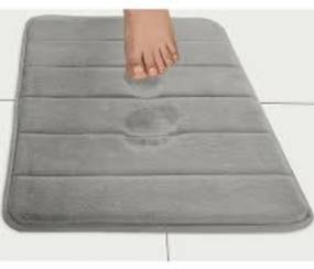 Tapete de Banheiro Camesa Super Soft Cinza Escuro 60x40cm
