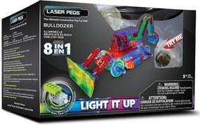 Blocos de Montar Laser Pegs Escavadeira 8 em 1 Azul