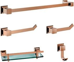 Kit de Acessórios para Banheiro (Ducon Rosé Gold)