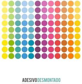 Adesivo Decohouse De Parede Polka Multicolorido