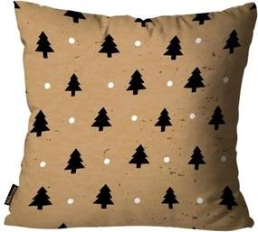Capa para Almofada Mdecore Natal Arvore de Natal Marrom 45x45cm