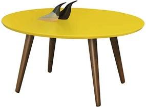Mesa De Centro Retrô Grace Edn Amarelo