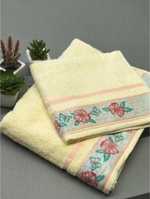 Kit Conjunto toalhas banho e rosto 02 Peças Jacquard FJ6187 - MARFIM