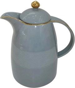 Garrafa Térmica de Porcelana Azul