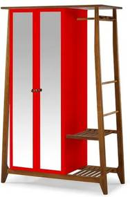 Armario Multiuso Stoka 2 Portas Vermelho Estrutura Amendoa 169cm - 60970 Sun House