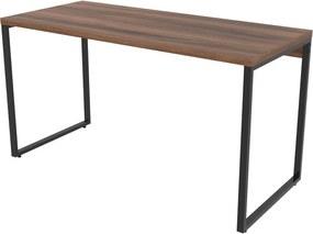 Mesa Para Escritório 1,35x75x60cm Estilo Industrial Kuadra ME135 Nogal - COMPACE