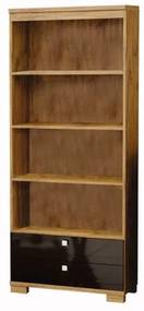 Estante para Livros Franklin cor Nobre e Preto com Brilho - 23271 Sun House