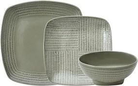 Aparelho de Jantar Forge em Porcelana na cor Cinza - 18 Peças