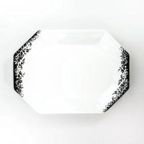 Travessa Rasa Oitavada Oval 36 cm Porcelana Schmidt - Dec. Pixel