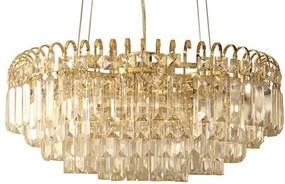 Lustre Metal E Cristal Dourado E Transparente 20X30